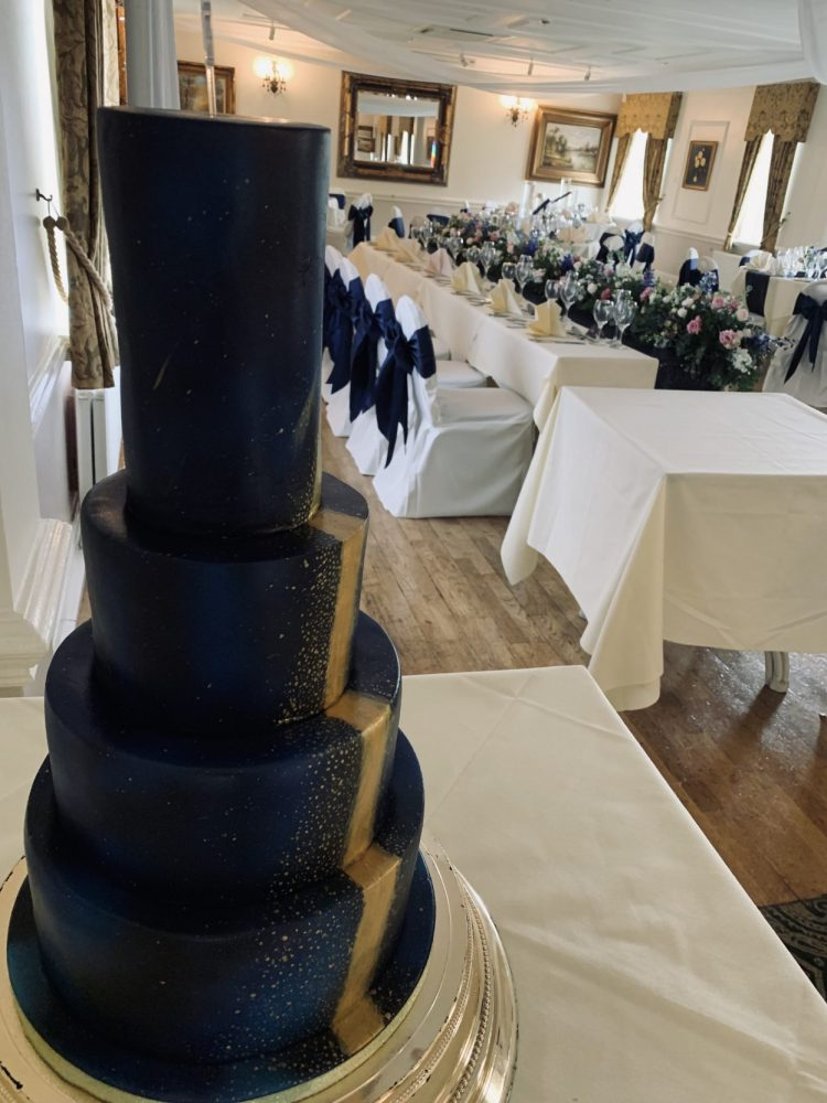 Starry night wedding cake