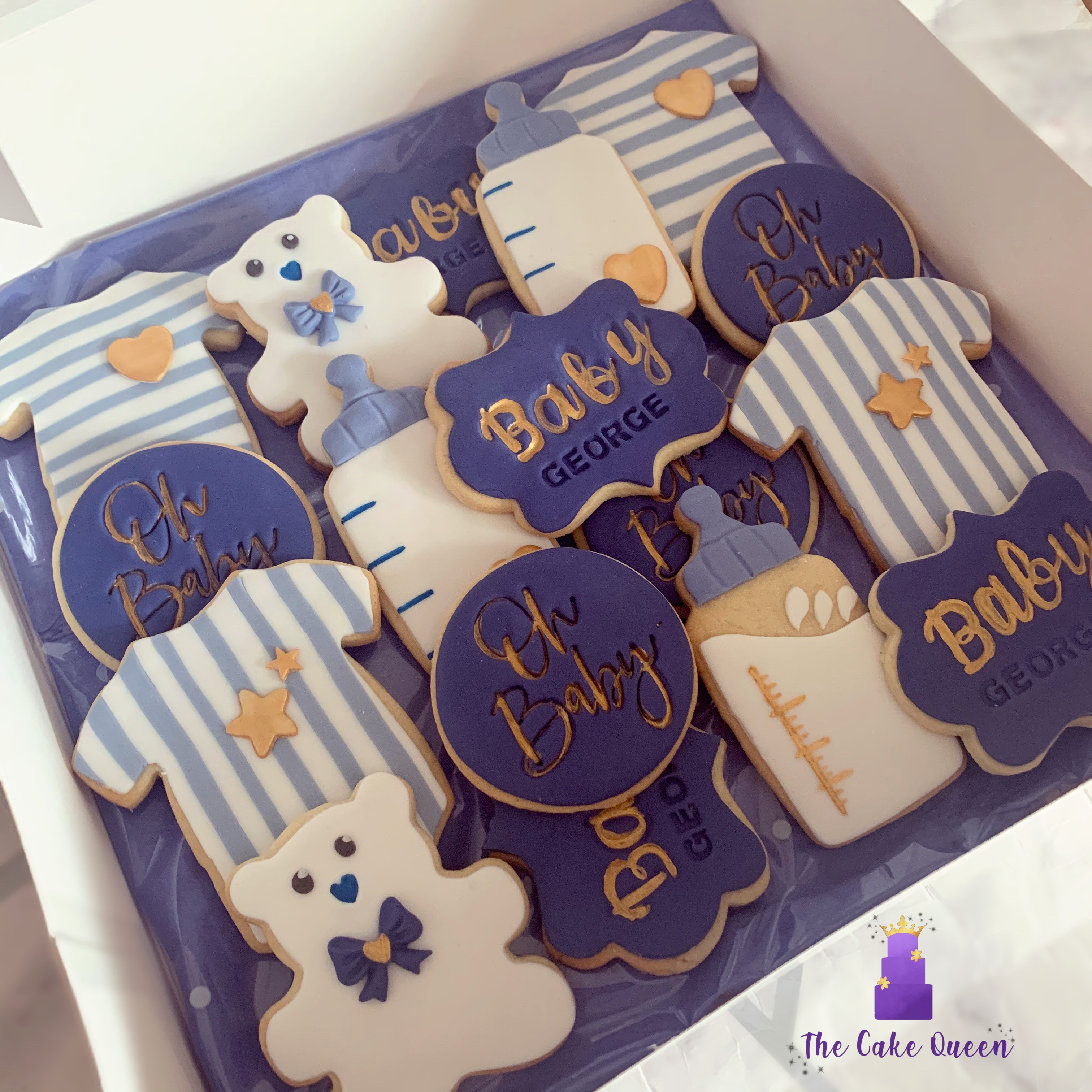 New baby / baby shower biscuits